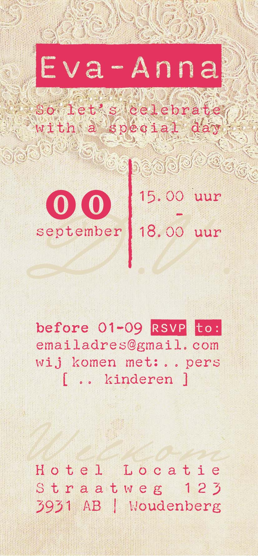Save the date-voorzijde